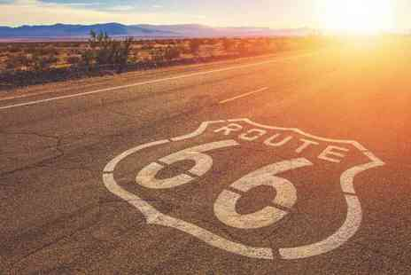 Just Book Sports - 14 night Route 66 trip with car hire, accommodation and return flights - Save 0%
