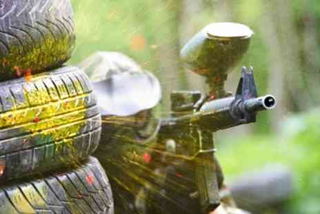 Zap Combat Centre - Half Day Low Impact Paintball Package, 100 Paintballs Each and Lunch for Up to Ten - Save 52%