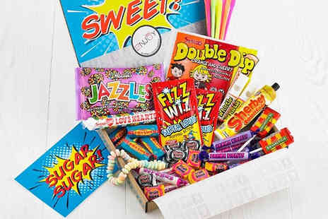 Just Letter Box - 43 Piece Retro Sweets Hamper Fits Through Your Letterbox! - Save 48%