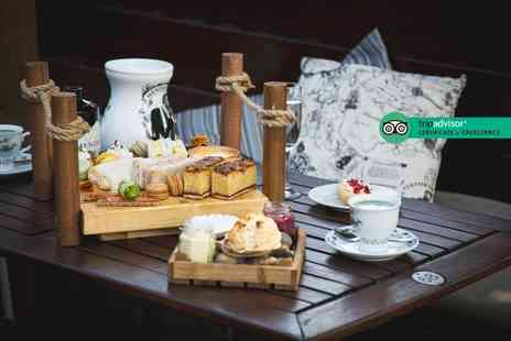 The Farndon Boathouse - Afternoon tea for two people, include a glass of Prosecco each or G&T each - Save 40%