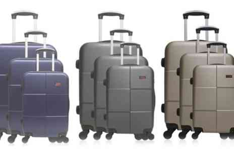 Groupon Goods Global GmbH - Hero Set of Three Coronado Trolley Luggage Suitcases in Choice of Colour With Free Delivery - Save 85%