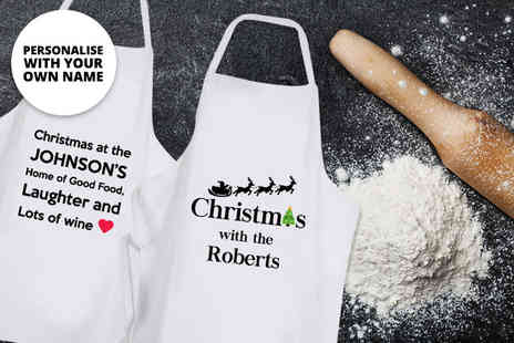 Deco Matters - A personalised Christmas apron choose from four designs - Save 64%