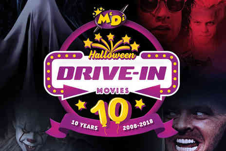 M&Ds Theme Park - Drive in movie ticket for one car including an XL family popcorn to share - Save 50%