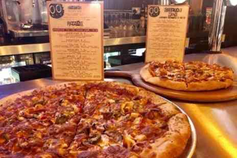 00BAR - Choice of Pizza and Drink for Up to Six - Save 50%