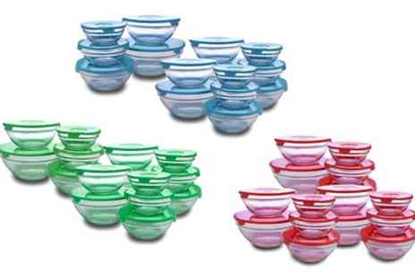 Groupon Goods Global GmbH - 15 Piece Glass Bowl Set - Save 75%