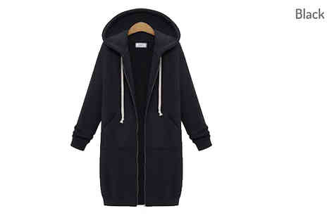 My Blu Fish - Hooded Long Sleeve Winter Coat Choose from 3 Colours - Save 63%