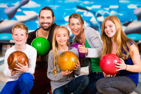 M&Ds Theme Park - Game of bowling for up to four people with a soft drink each - Save 56%