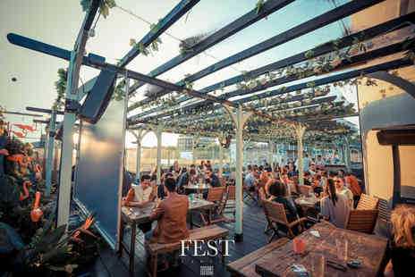 FEST Camden - Three course dining for two people with a cocktail each and club entry - Save 61%
