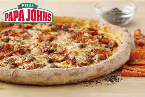 Papa Johns - Small, medium XXL original crust or thin crust pizza with two toppings - Save 0%