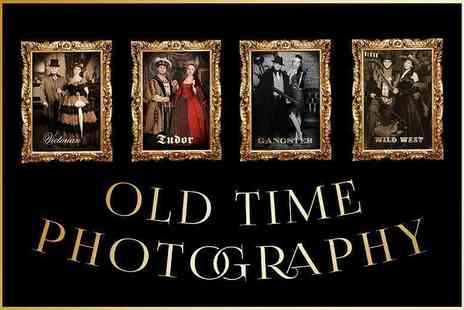 "Old & New Photography - Old time photoshoot for two people including an 8"" x 10"" print - Save 85%"