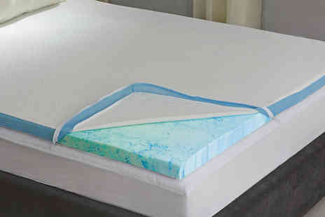 Groundlevel - A single one inch gel infused memory foam topper - Save 58%