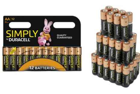 Groupon Goods Global GmbH - 12, 24, 36, 36, or 72 Aa LR06 and Aaa LR03 Duracell Simply Batteries - Save 64%