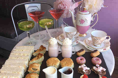 Ghiaccio Bar Bistro & Treat Lounge - Afternoon tea for two with a cocktail each - Save 38%