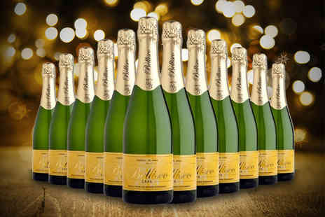 Q Regalo - Six or 12 bottles of luxury Bellisco Brut sparkling Cava - Save 75%