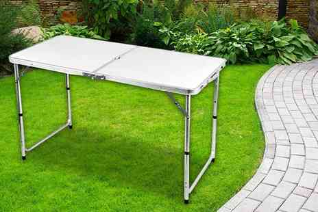 Who Needs Shops - Four foot folding family picnic table - Save 77%
