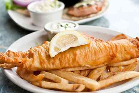 Bakewell Fish - Fish and Chips with Mushy Peas, Curry or Gravy for Two - Save 35%