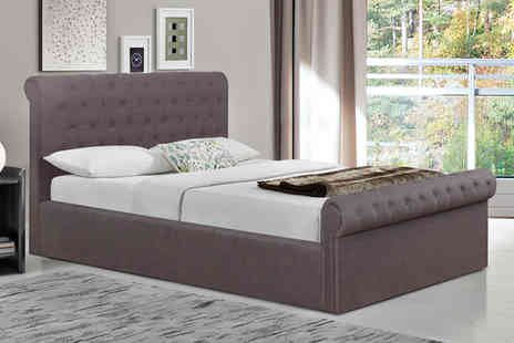 FTA Furnishing - An ottoman storage bed choose from double and king options - Save 58%