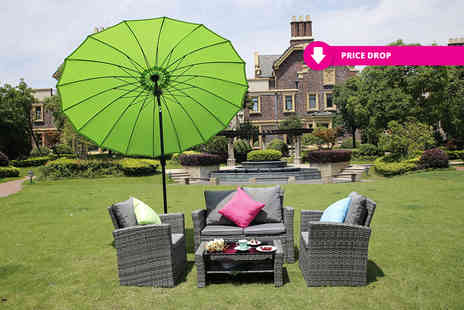Dreams Living - Four seater durable polyrattan outdoor sofa set select from three colours - Save 77%