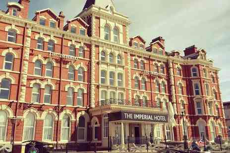 The Imperial Hotel - One or two night Blackpool stay for two people with breakfast, leisure access and late check out - Save 39%