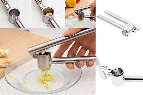 TMD GLOBAL - A stainless steel garlic press crusher - Save 75%