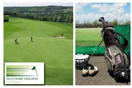 Wycombe Heights Golf Centre - Round of Golf and Meal For Two, plus 100 Balls For Driving Range - Save 76%