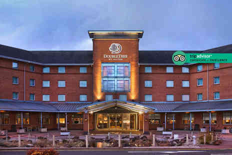 DoubleTree by Hilton Hotel - One or two night stay for two people with a bottle of Prosecco on arrival, a two course dinner, leisure access and breakfast - Save 35%
