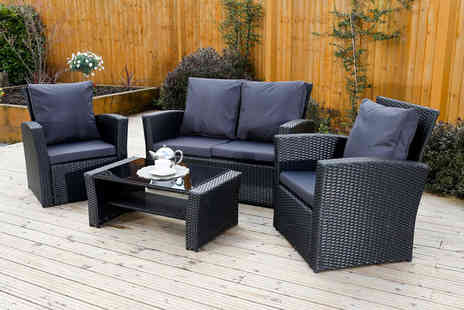 Abreo - Four piece Algarve durable polyrattan sofa set with cover - Save 61%