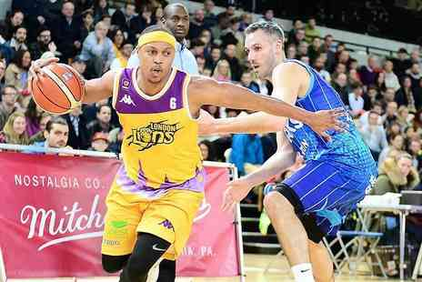 London Lions - Choice of London Lions Basketballs home game premium ticket or £25 for a family ticket - Save 49%