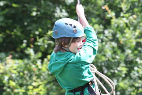 Ackers Adventure - Tower drop and zip wire experience - Save 49%