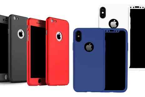 Groupon Goods Global GmbH - One or Two 360 Degree Cases with Tempered Glass for iPhone 5 or 5s or SE, 6 or 6s, 6 Plus or 6s Plus, 7, 7 Plus, 8, 8 Plus or X - Save 0%