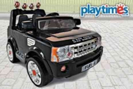 Playtimes - Kids Ride On Jeep Style Car In Black, White or Pink With Remote Control - Save 57%
