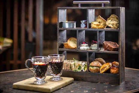 FireLake Grill House & Cocktail Bar - Festive afternoon tea for two people with a glass of mulled wine or Prosecco each - Save 49%
