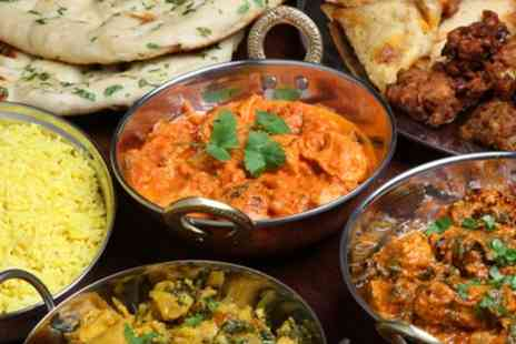 The Indian Chefs - Two-Course Indian Meal with Rice or Naan and Glass of Wine or Beer for Two or Four - Save 66%