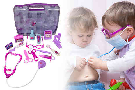 Who Needs Shops - Childrens pink doctor toy medical set - Save 70%