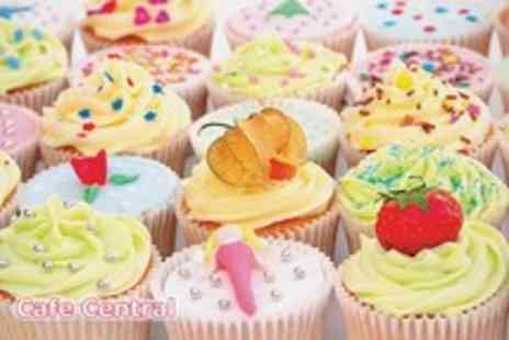 Cafe Central - 3 Hour cupcake decorating class & 6 cupcakes to take home - Save 79%