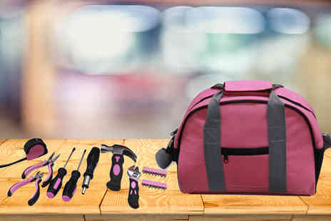 Hyfive - 39 piece pink tool kit or 25 piece pink tool kit in a pink carrying case - Save 72%