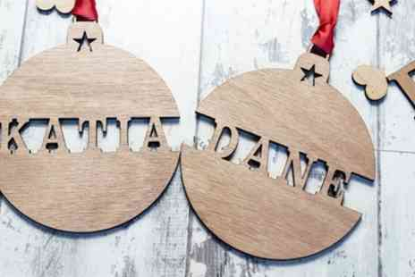 Personalised Gift Market - Four or Six Personalised Christmas Ornaments - Save 88%