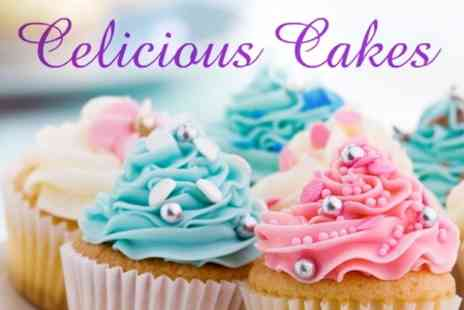 Celicious Cakes - Box of 12 Cupcakes - Save 63%