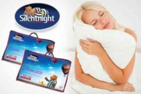 UK Bedding - 4.5 Tog of Silentnight Climate Control Duvet and Pillow Set - Save 60%