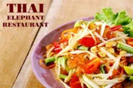 Thai Elephant - Three Course Thai Meal With Rice For Four - Save 58%