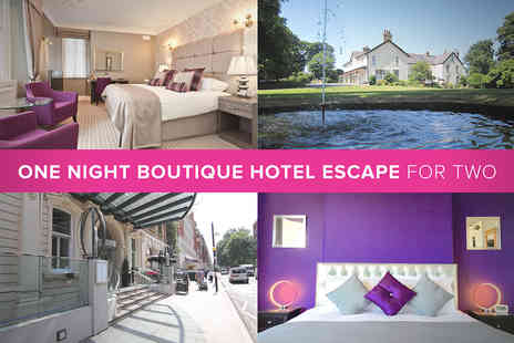Boutique Hotel - One Night Boutique Hotel Escape for Two - Save 20%