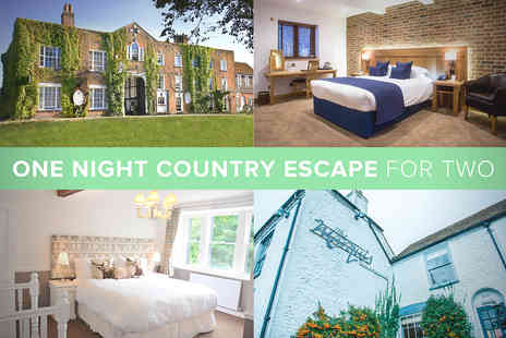 Country Hotel - One Night Country Hotel Escape for Two - Save 20%