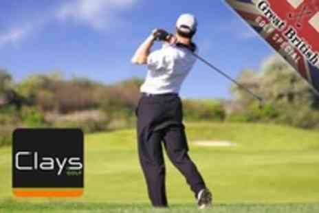 Clays Golf - Day of Golf For Two With Lunch and Drink Each - Save 71%