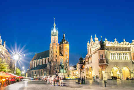 Bargain Late Holidays - Two, three or five night 4 Star half board Krakow spa stay with welcome drink and return flights - Save 24%