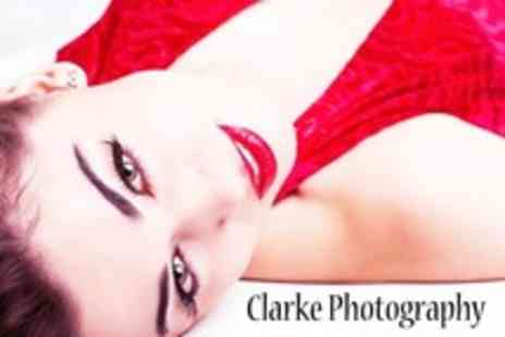 Clarke Photography - Studio Photo Shoot With Makeover and 12 x 8 Print - Save 88%