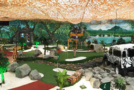 Jungle Creek Adventure Golf - Adventure golf and soft play for one adult and one child with a kids meal deal - Save 50%