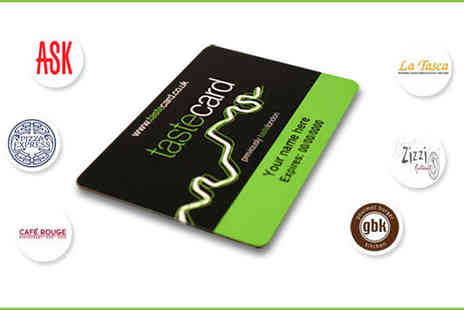Taste Marketing - Annual subscription to taste card including delivery and gift wrapping - Save 53%