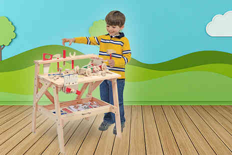 Trojan Electrical - Melissa and Doug wooden project workbench set - Save 52%