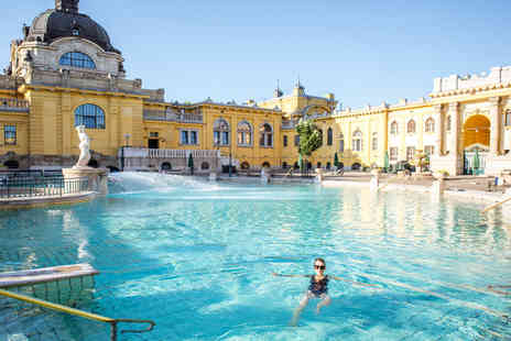 Crystal Travel - Two night Four Star Budapest city break with Szechenyi Spa access and return flights or from three nights - Save 40%