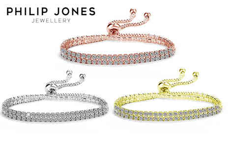 Philip Jones - Double wrap friendship bracelet made with crystals from Swarovski available in three colours - Save 81%